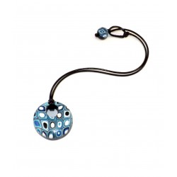 Collar perla Disco Blue