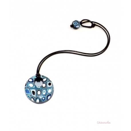 "Collier Perle ""Disco Blue"""